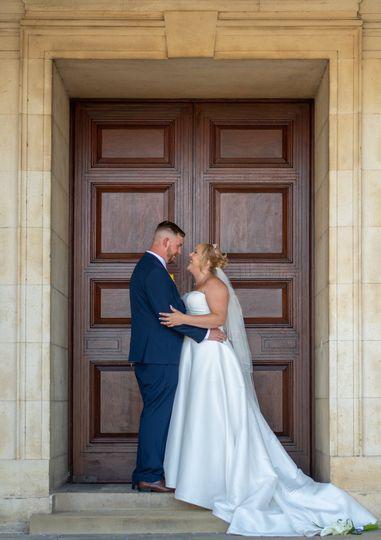 Mr and Mrs Skinner wedding day