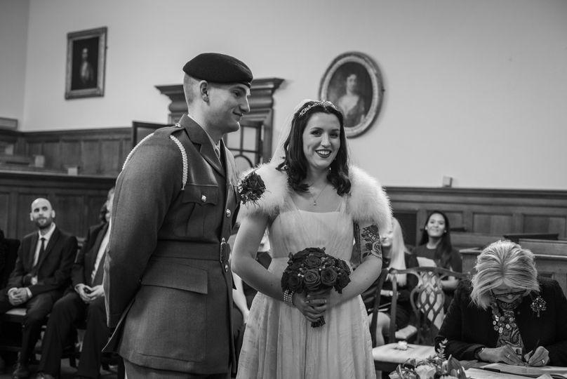 Mr an Mrs Matthews wedding day