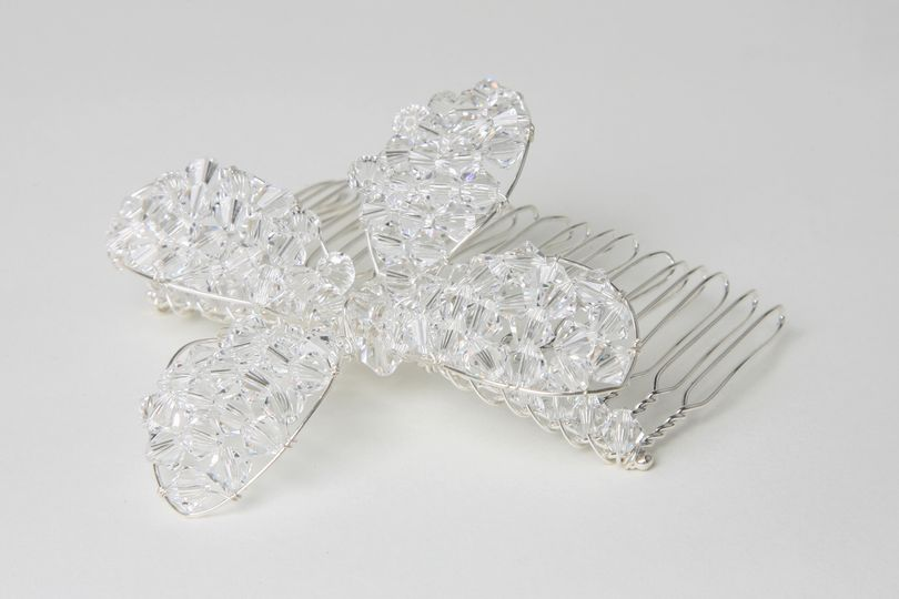 Crystal Flower Comb
