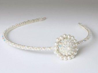 Crystal & Pearl Brooch Side Tiara