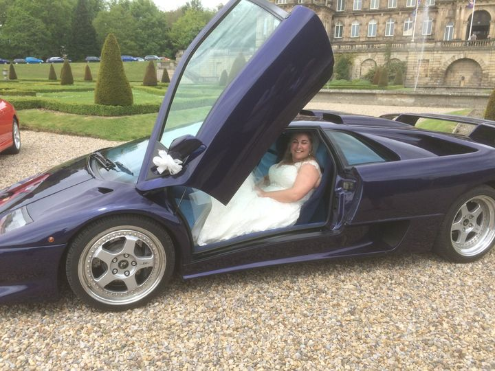 First bride in the Lamborghini