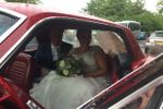 Newly weds in the Mustang