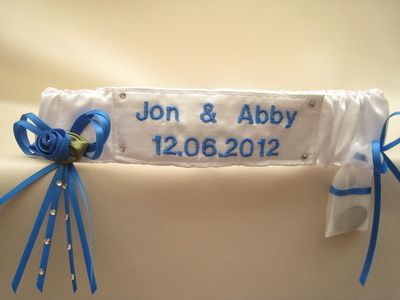 Atia Personalised Garter with Sixpence Bag