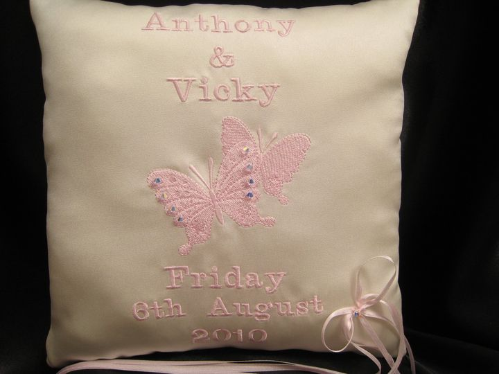 Butterfly Ring Cushion