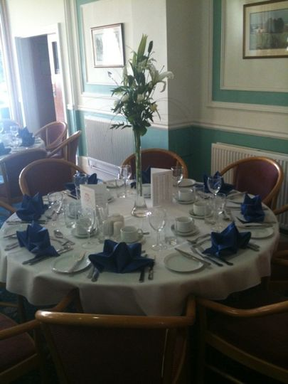 Table setting at the golf club