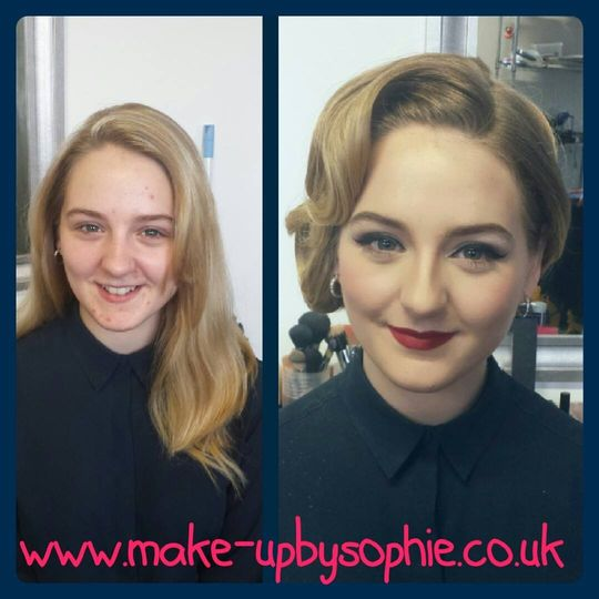 Before and after pin up style