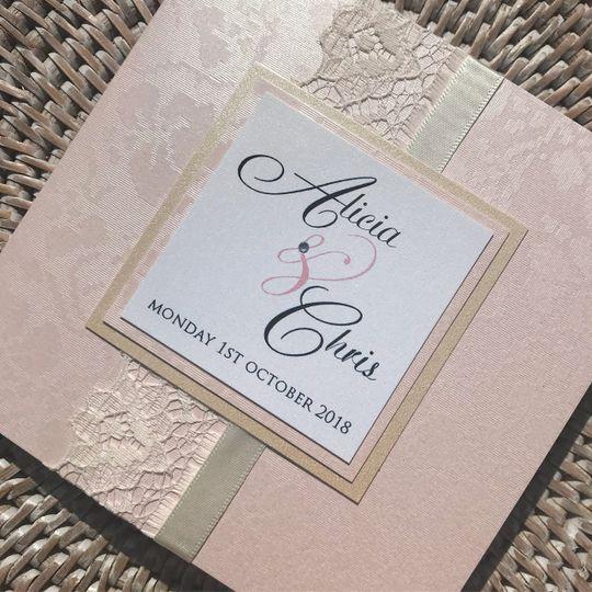 Elegant Pocket Fold Invite