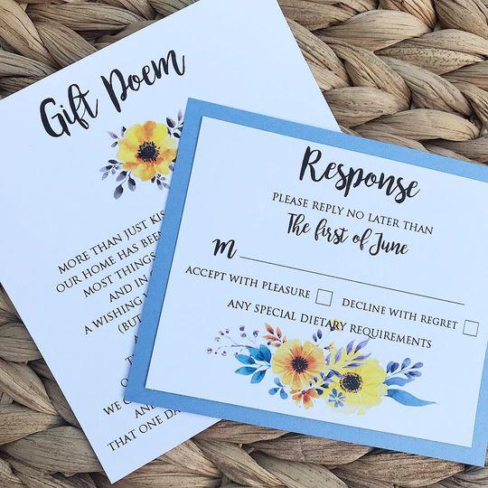 Floral Watercolour Invite