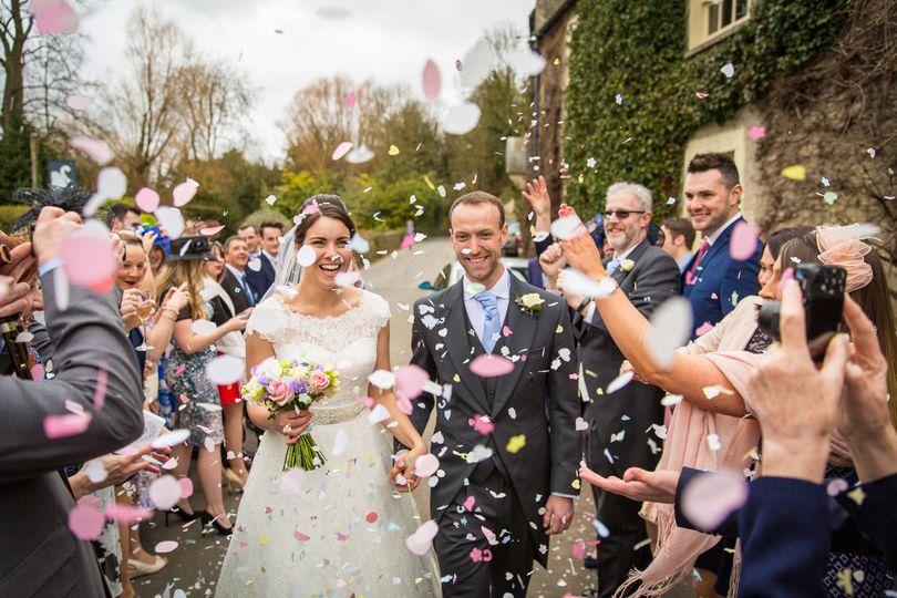 Confetti at The Swan At Bibury