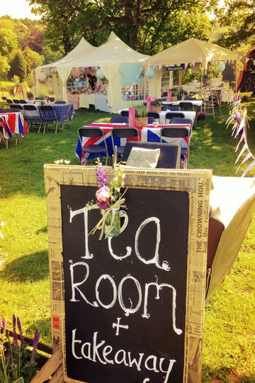 Fawley steam fair tea room