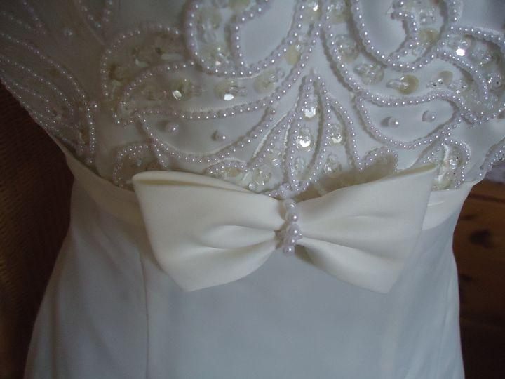 Beaded detail wedding dress