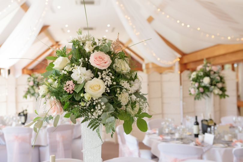Pretty blush pink setting