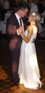 Wedding disco first dance
