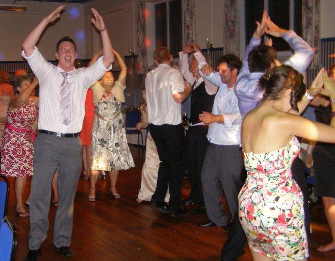 Wedding reception disco dancer