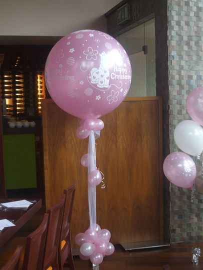 3' latex supersize balloon with flower base