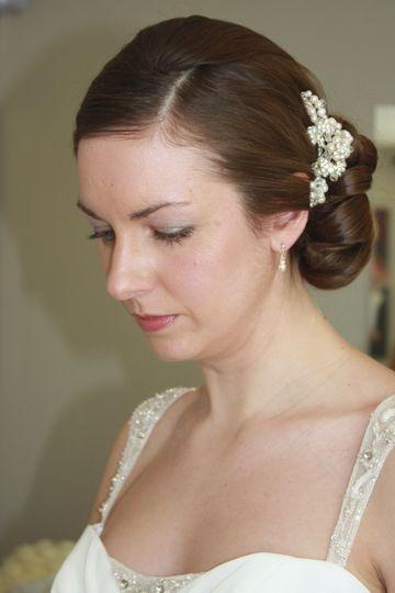 Bride with Vintage Side Bun