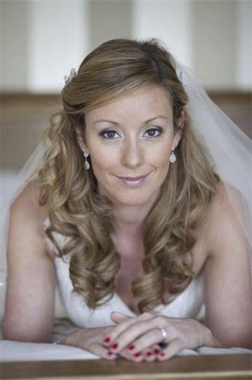 Bride with Half Up Half Down