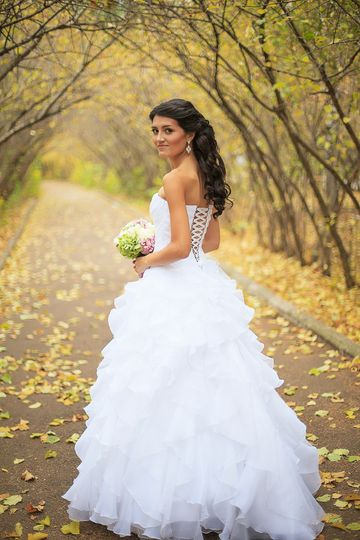 Compliments your wedding dress