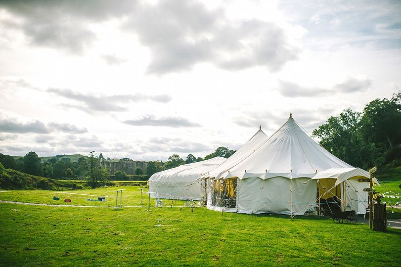 Yurt and Petal Pole Marquee