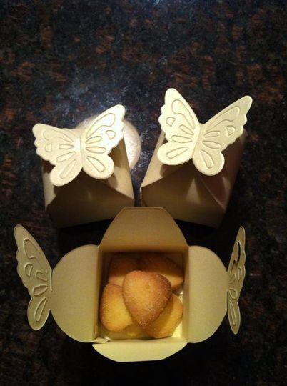 Shortbread in a box favours