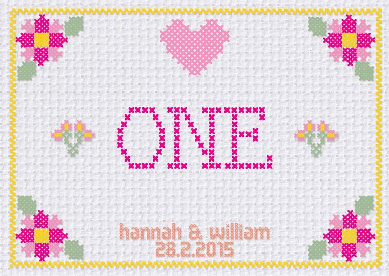 Cross Stitch Table Number