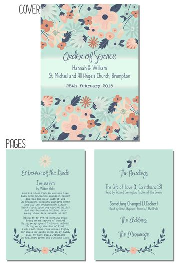 Simply Floral Order of Service