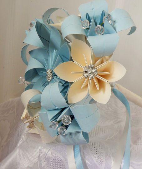 Blue and cream