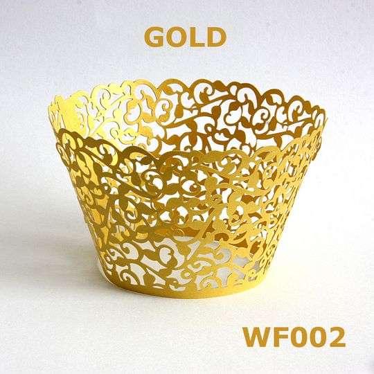 Golden cupcake Wrapper