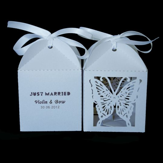 Presonalised Favour Boxes