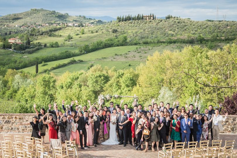 Wedding Day Photo in Tuscany