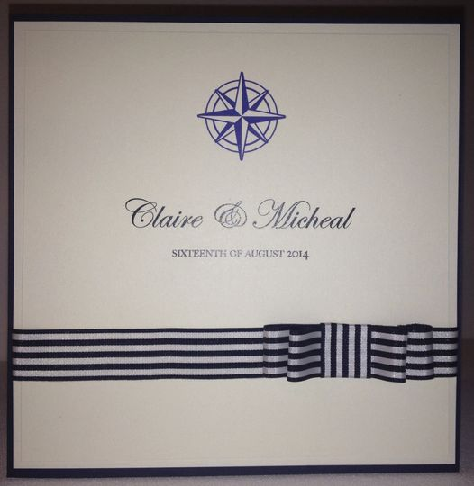Nautical themed invitation