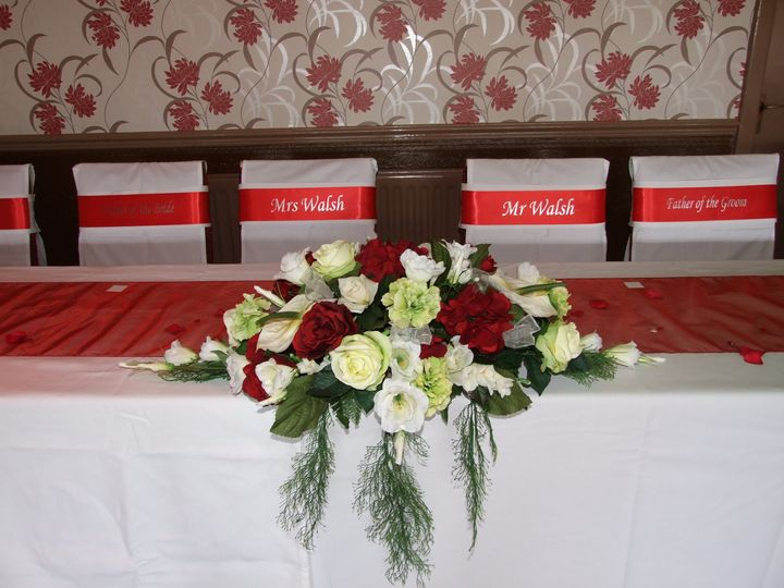 Becky and Tom - personalised sashes
