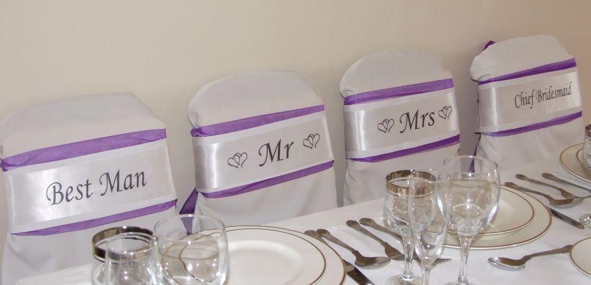Best Man, Mr, Mrs & Chief Bridesmaid Sashes