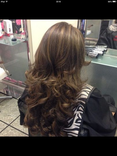 Curly Blow dry with extensions