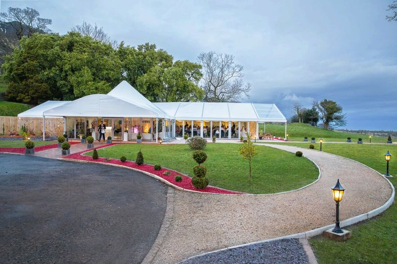 Marquee caters up to 230