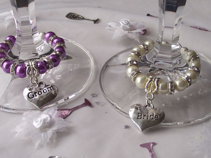 Bride & Groom Charm Set