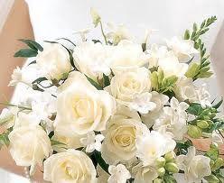 Beautiful rose cream bouquet