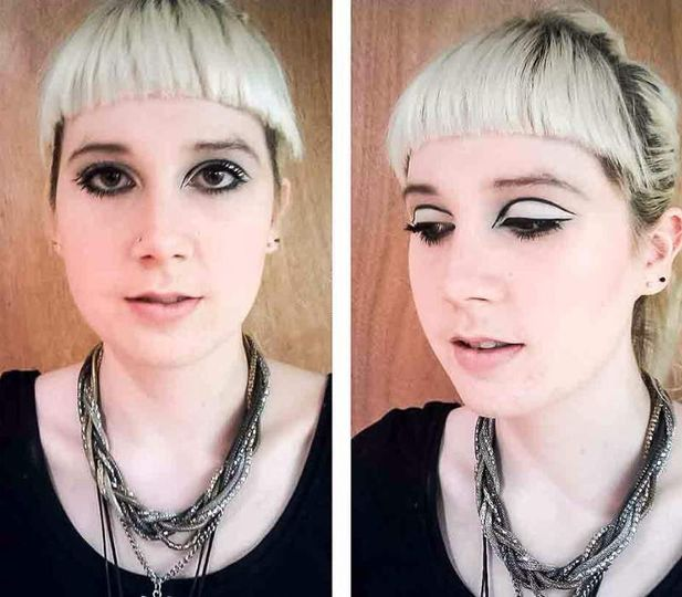 1960s Twiggy makeup
