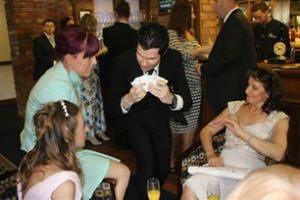 Table hopping wedding magic