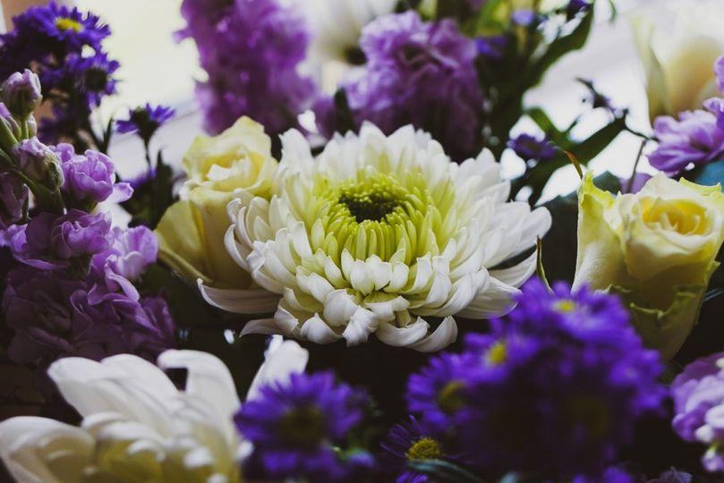 Beautiful wedding blooms
