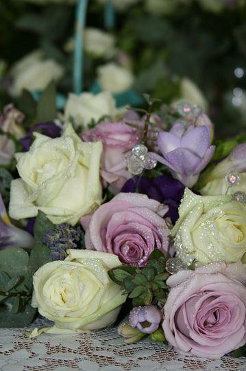 Lilac & Pink Bouquet Detail