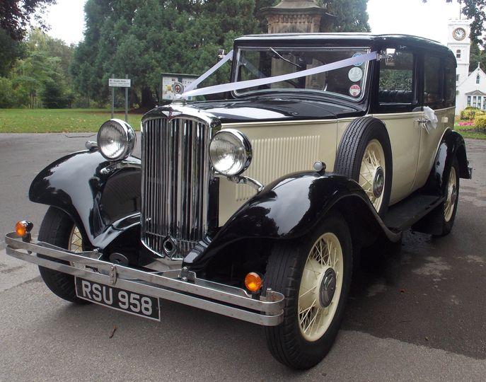 Vintage wedding car hire