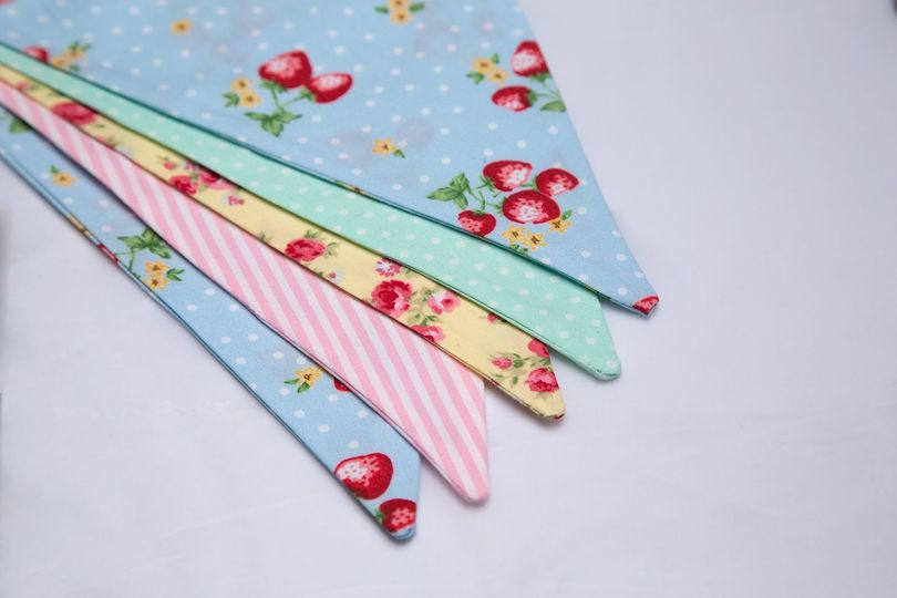 Pastel bunting