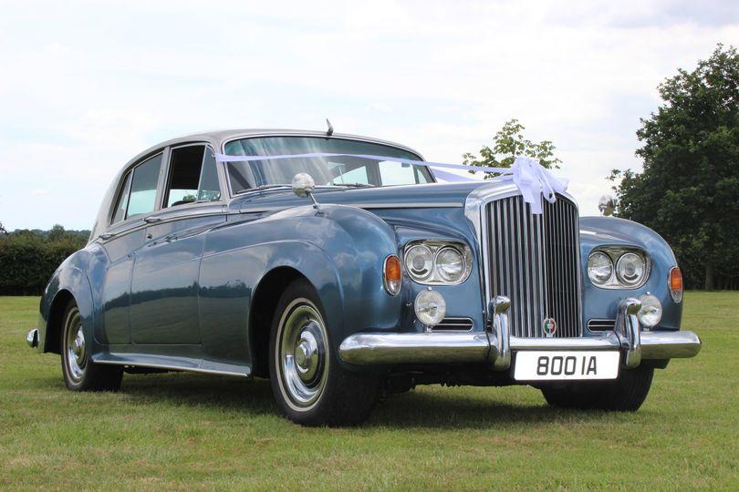 Something blue wedding cars