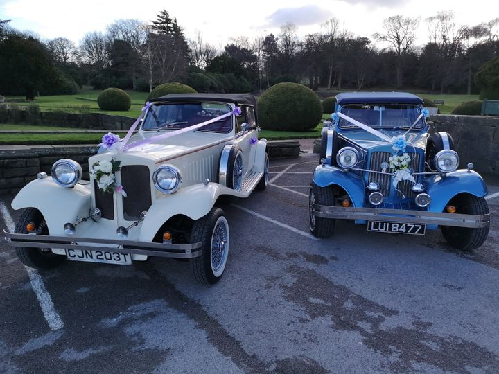 Blue and ivory Beaufords
