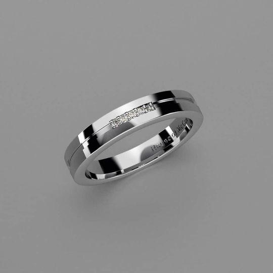 Bespoke platinum ring