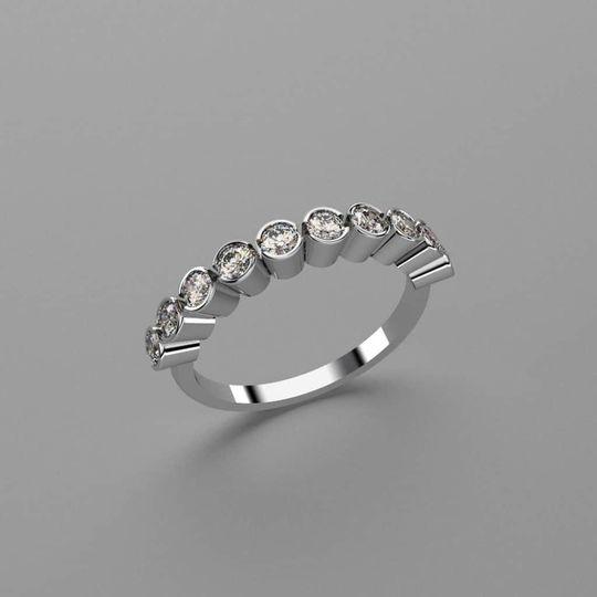 Nine-stone ring