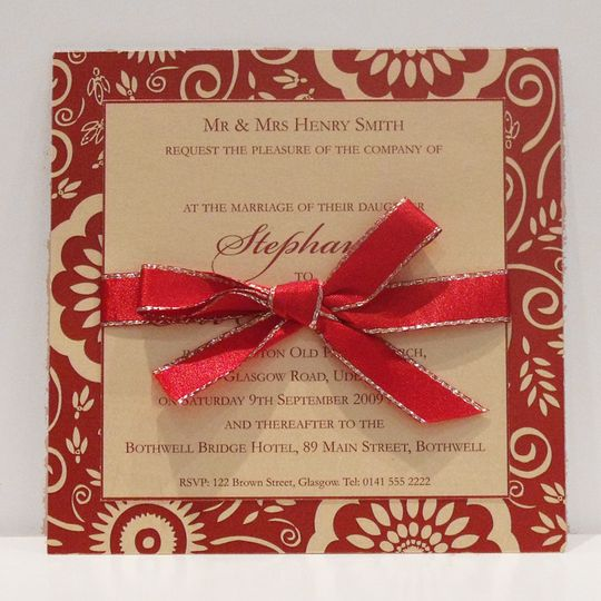 Double mount card with ribbon