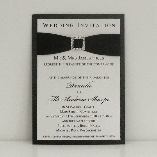 Double mount card with ribbon and buckle