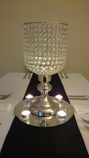 Crystal hurricane vase